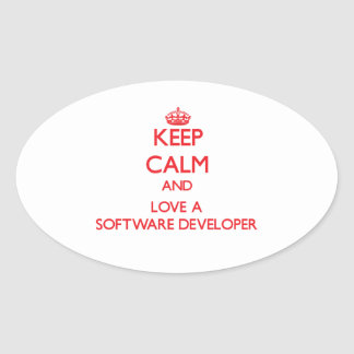 Keep Calm and Love a Software Developer Stickers