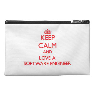 Keep Calm and Love a Software Engineer Travel Accessories Bag