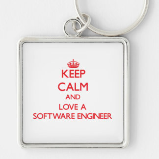 Keep Calm and Love a Software Engineer Keychains