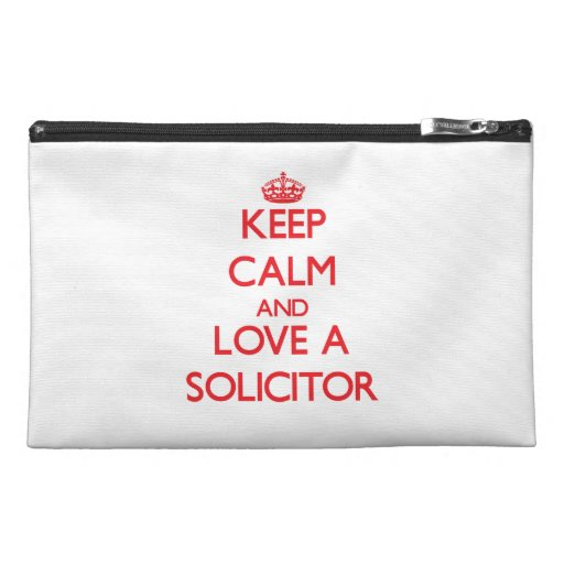 Keep Calm and Love a Solicitor Travel Accessory Bags