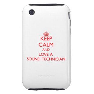 Keep Calm and Love a Sound Technician Tough iPhone 3 Case