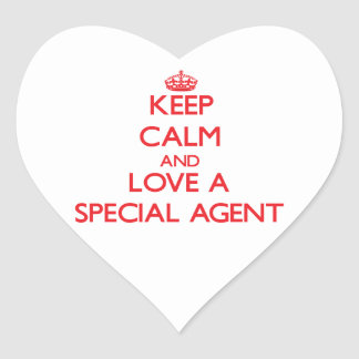 Keep Calm and Love a Special Agent Stickers