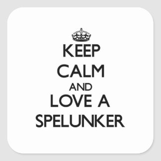 Keep Calm and Love a Spelunker Stickers