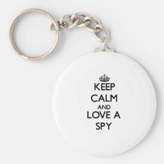 Keep Calm and Love a Spy Key Chains