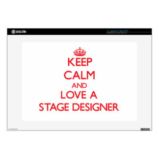 "Keep Calm and Love a Stage Designer Skins For 15"" Laptops"