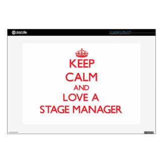 Keep Calm and Love a Stage Manager Decal For Laptop