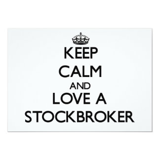 Keep Calm and Love a Stockbroker 5x7 Paper Invitation Card