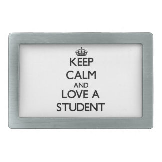Keep Calm and Love a Student Belt Buckle