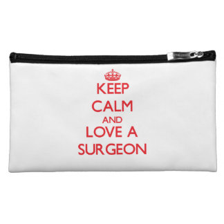 Keep Calm and Love a Surgeon Cosmetic Bag