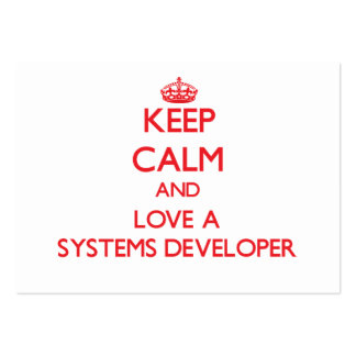 Keep Calm and Love a Systems Developer Business Cards