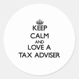 Keep Calm and Love a Tax Adviser Sticker