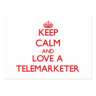 Keep Calm and Love a Telemarketer Large Business Cards (Pack Of 100)