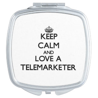 Keep Calm and Love a Telemarketer Compact Mirrors