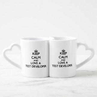 Keep Calm and Love a Test Developer Couples' Coffee Mug Set