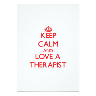 Keep Calm and Love a Therapist Personalized Invitation