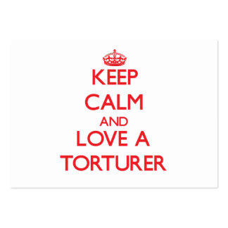 Keep Calm and Love a Torturer Large Business Cards (Pack Of 100)