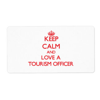 Keep Calm and Love a Tourism Officer Labels