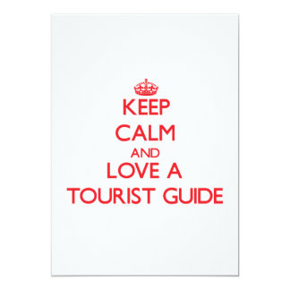 Keep Calm and Love a Tourist Guide Personalized Announcements