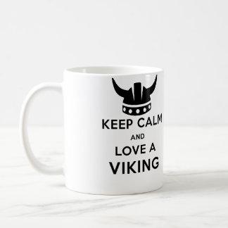 Keep Calm and Love a Viking mug - Left handed