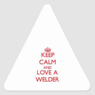 Keep Calm and Love a Welder Stickers