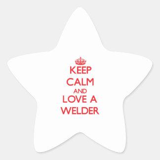 Keep Calm and Love a Welder Sticker