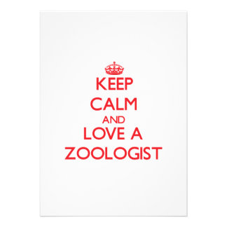Keep Calm and Love a Zoologist Announcements