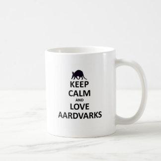 Keep calm and love aardvarks.jpg coffee mugs
