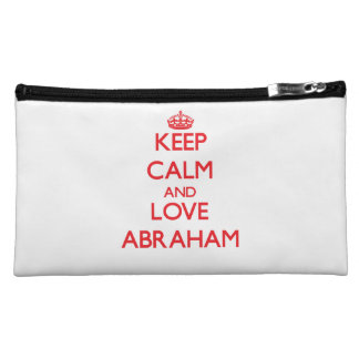 Keep Calm and Love Abraham Cosmetic Bags