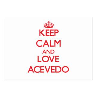 Keep calm and love Acevedo Business Card Template