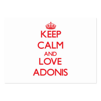 Keep Calm and Love Adonis Business Card Templates