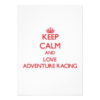 Keep calm and love Adventure Racing Custom Announcement