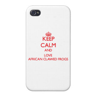 Keep calm and love African Clawed Frogs Cases For iPhone 4