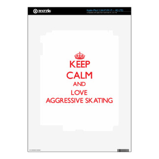 Keep calm and love Aggressive Skating Decal For iPad 3