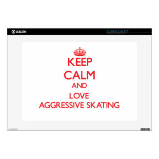 Keep calm and love Aggressive Skating Decals For Laptops