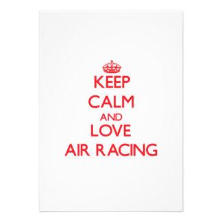 Keep calm and love Air Racing Custom Invitation