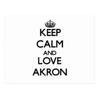 Keep Calm and love Akron Postcard