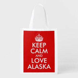 Keep Calm and Love Alaska Market Tote