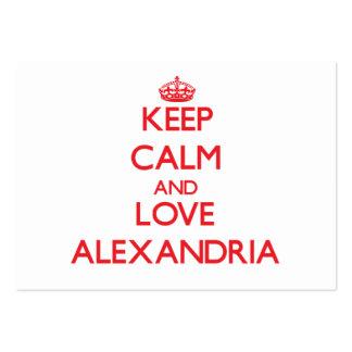 Keep Calm and Love Alexandria Business Card