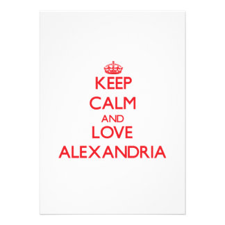 Keep Calm and Love Alexandria Invitation