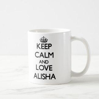 Keep Calm and Love Alisha Coffee Mug