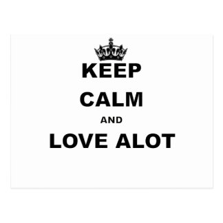 KEEP CALM AND LOVE ALOT.png Postcard
