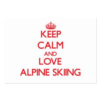 Keep calm and love Alpine Skiing Business Card Templates
