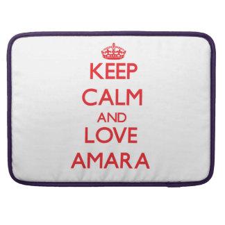 Keep Calm and Love Amara Sleeve For MacBooks