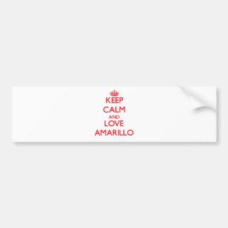 Keep Calm and Love Amarillo Car Bumper Sticker