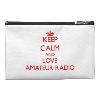 Keep calm and love Amateur Radio Travel Accessories Bags