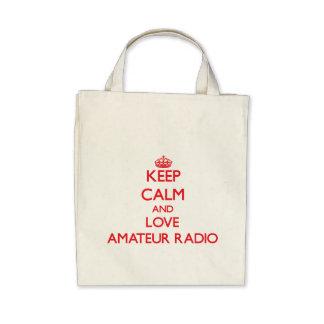 Keep calm and love Amateur Radio Bag