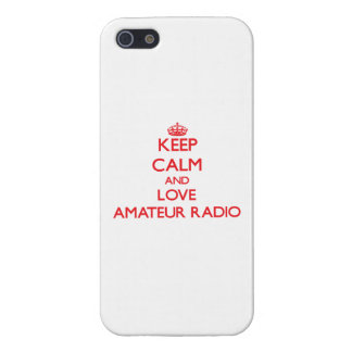 Keep calm and love Amateur Radio Case For iPhone 5
