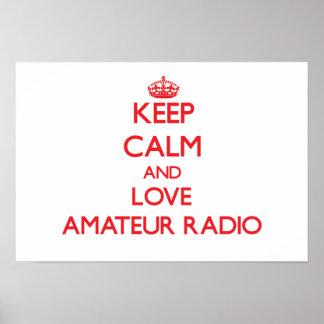 Keep calm and love Amateur Radio Poster