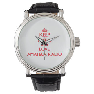 Keep calm and love Amateur Radio Wristwatches