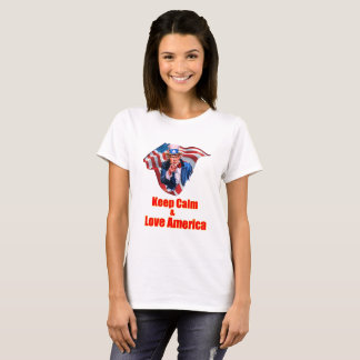 Keep calm and love America. T-Shirt